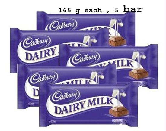 5 bar of cadbury , 165 g each