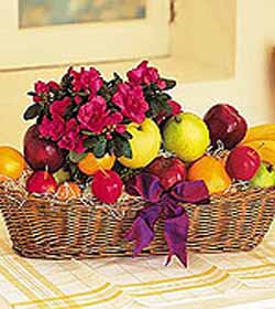 Fruit with carnation
