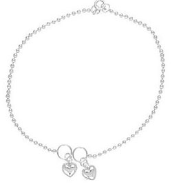Anklets with Heart Charms